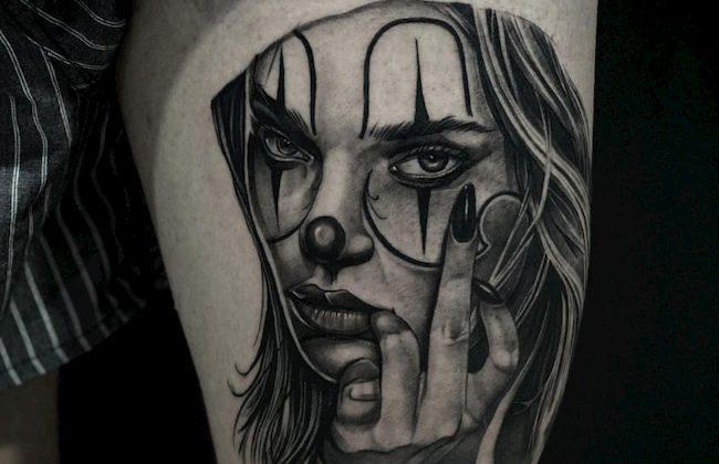Chicano tattoo vrouwengezicht