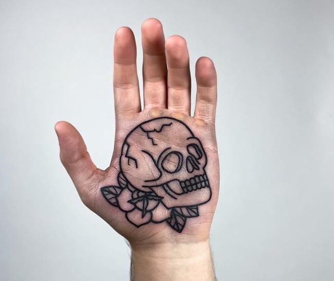 tattoo handpalm