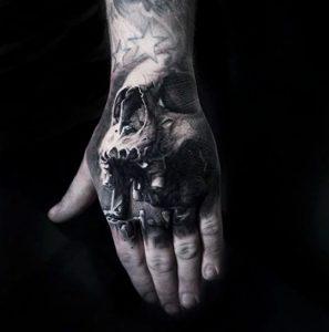 Tattoo-hand-skull