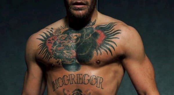 conor mcgregor tattoo gorilla borst