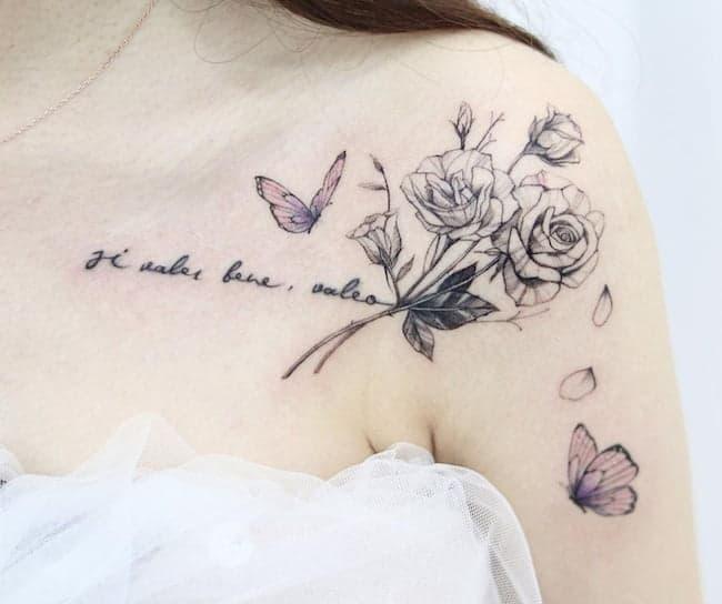 tattoo-sleutelbeen-rozen