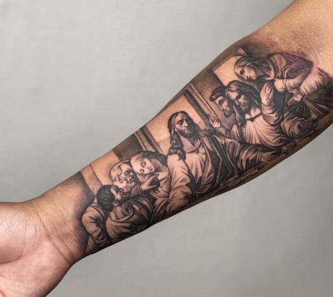 tattoo onderarm geloof