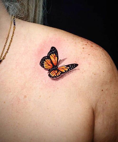 3D-tattoo-vlinder
