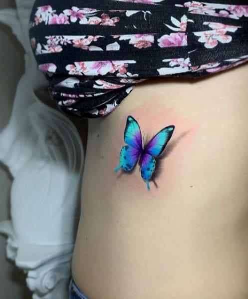 3d-tattoo-vlinder-blauw