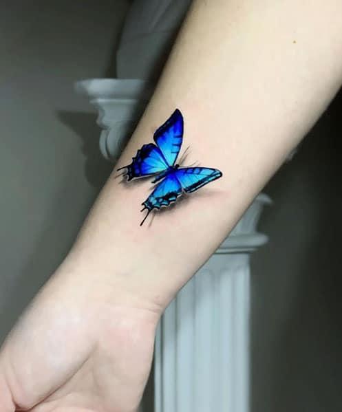 3d-tattoo-vlinder-op-pols