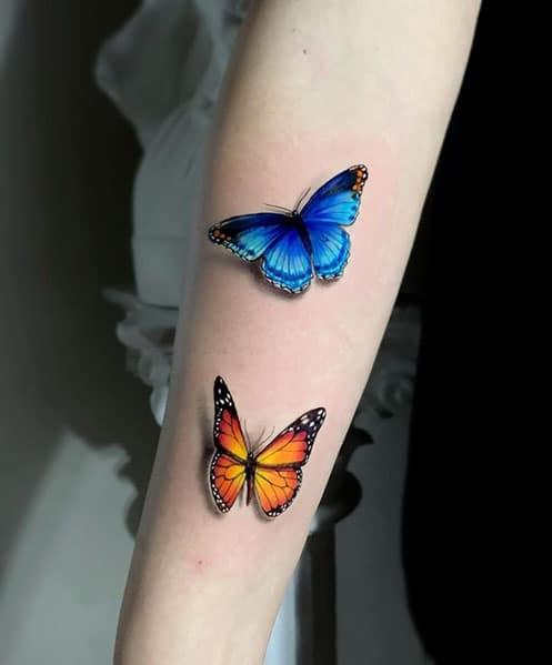 Tattoo-3d-vlinder
