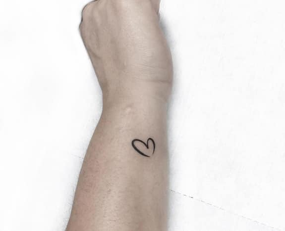 kleine tattoo hartje