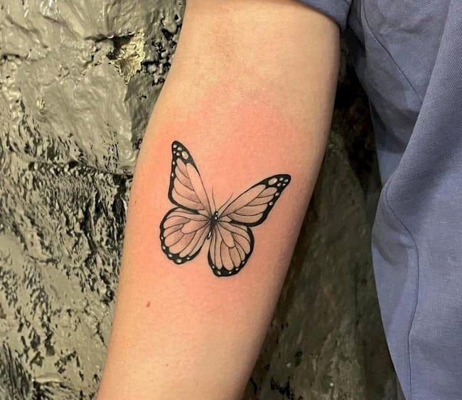 kleine tattoo vlinder