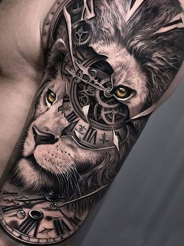 Tattoo-leeuw-realisme